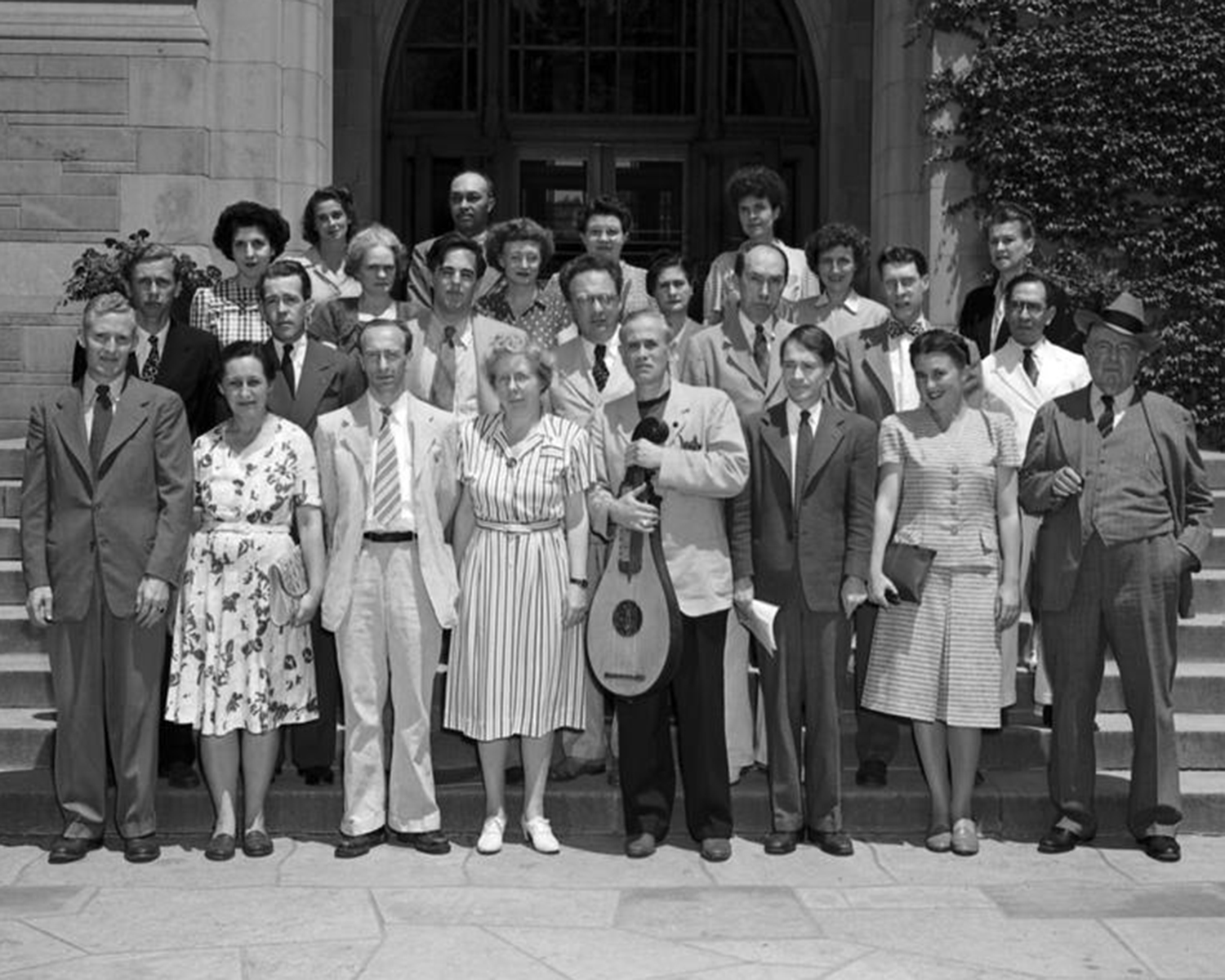 Group photograph of 1946 Folklore Conference attendees
