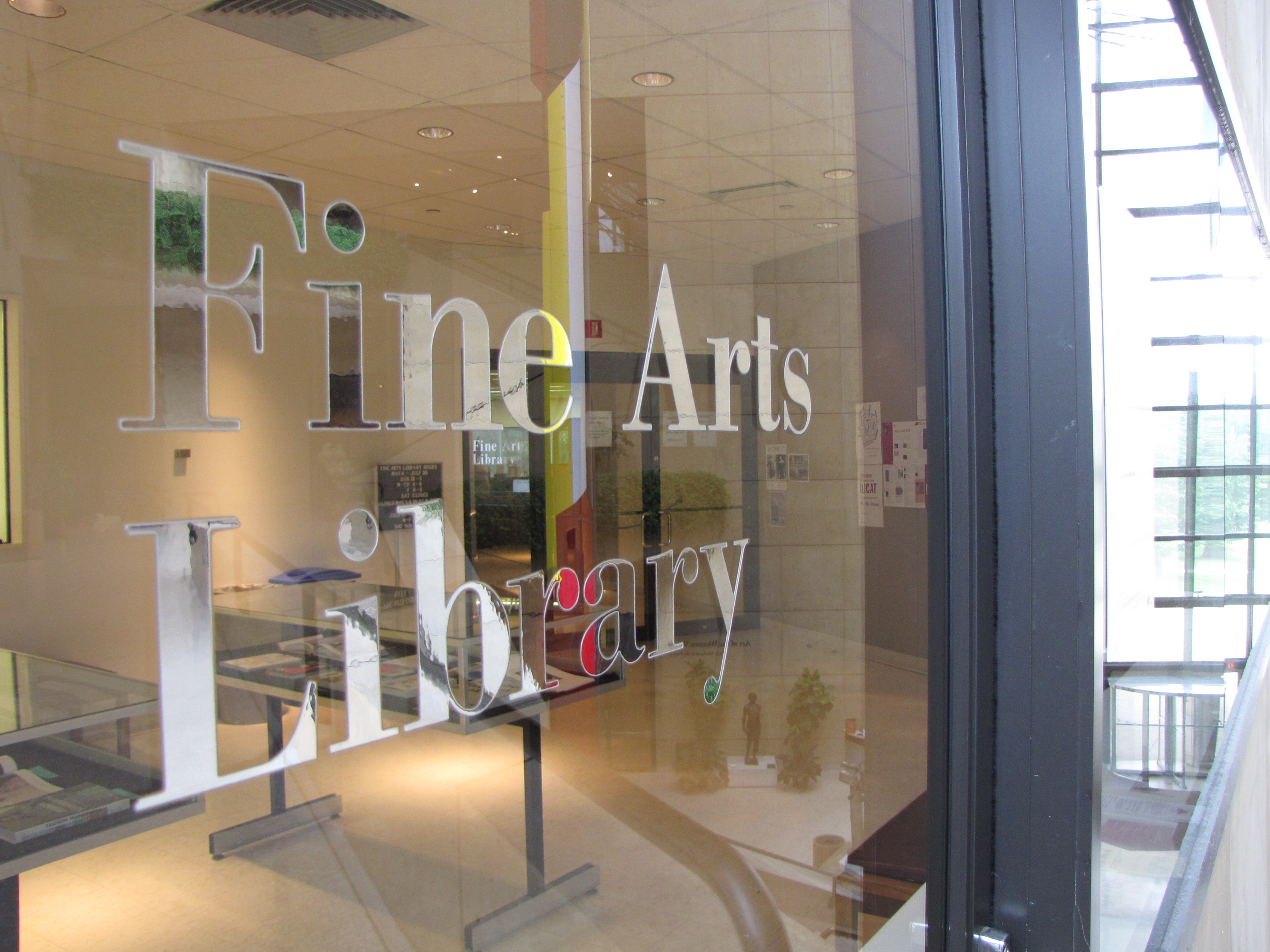 Fine Arts Library entrance