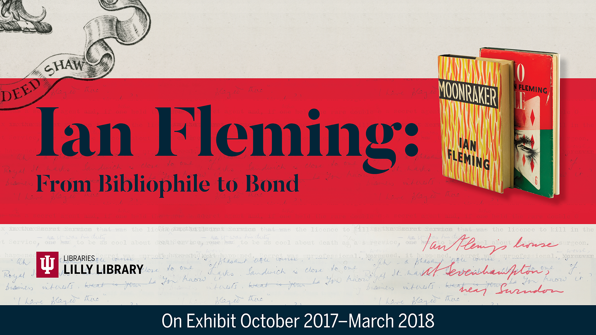 Image from Ian Fleming exhibition banner