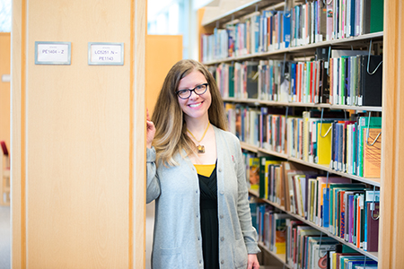 Image of Julie Marie Frye in the Education Library