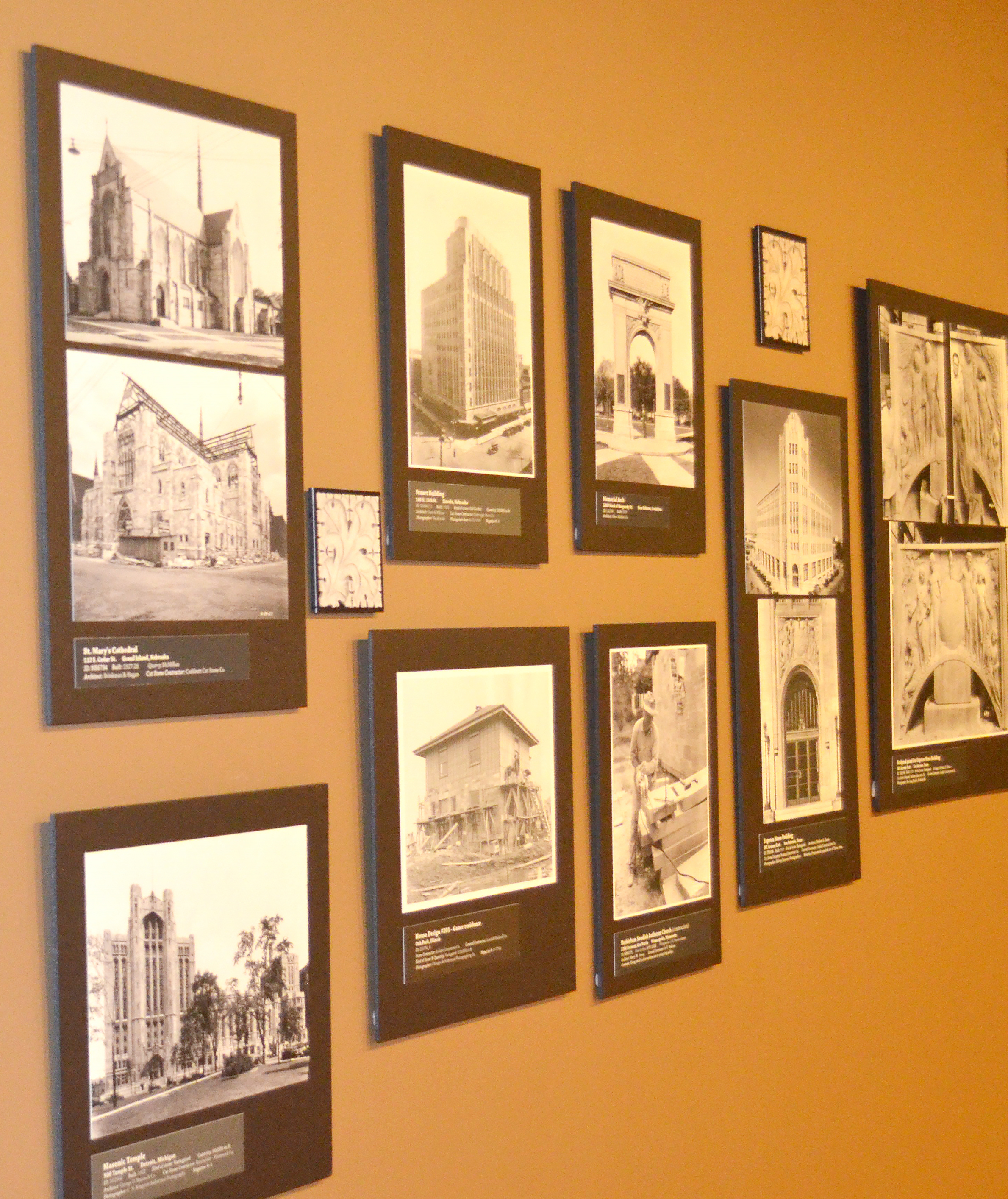 Photo of exhibit at Monroe County History Museum