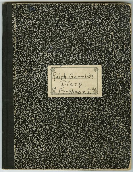 cover of student diary from 1923