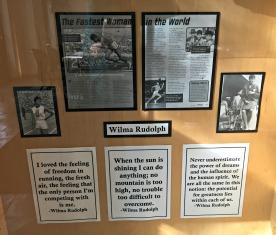 Wilma Rudolph Display