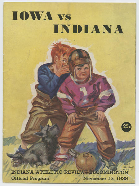 Cover of IU vs Iowa football program, Nov. 12, 1938