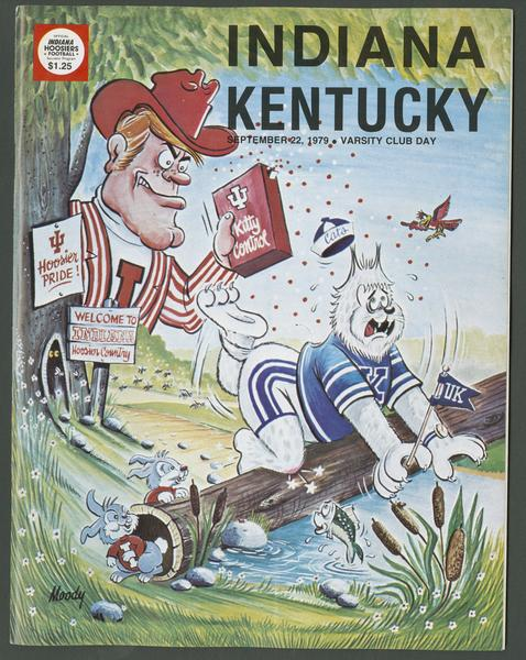 Cover of IU vs Kentucky football program, Sept. 22, 1979