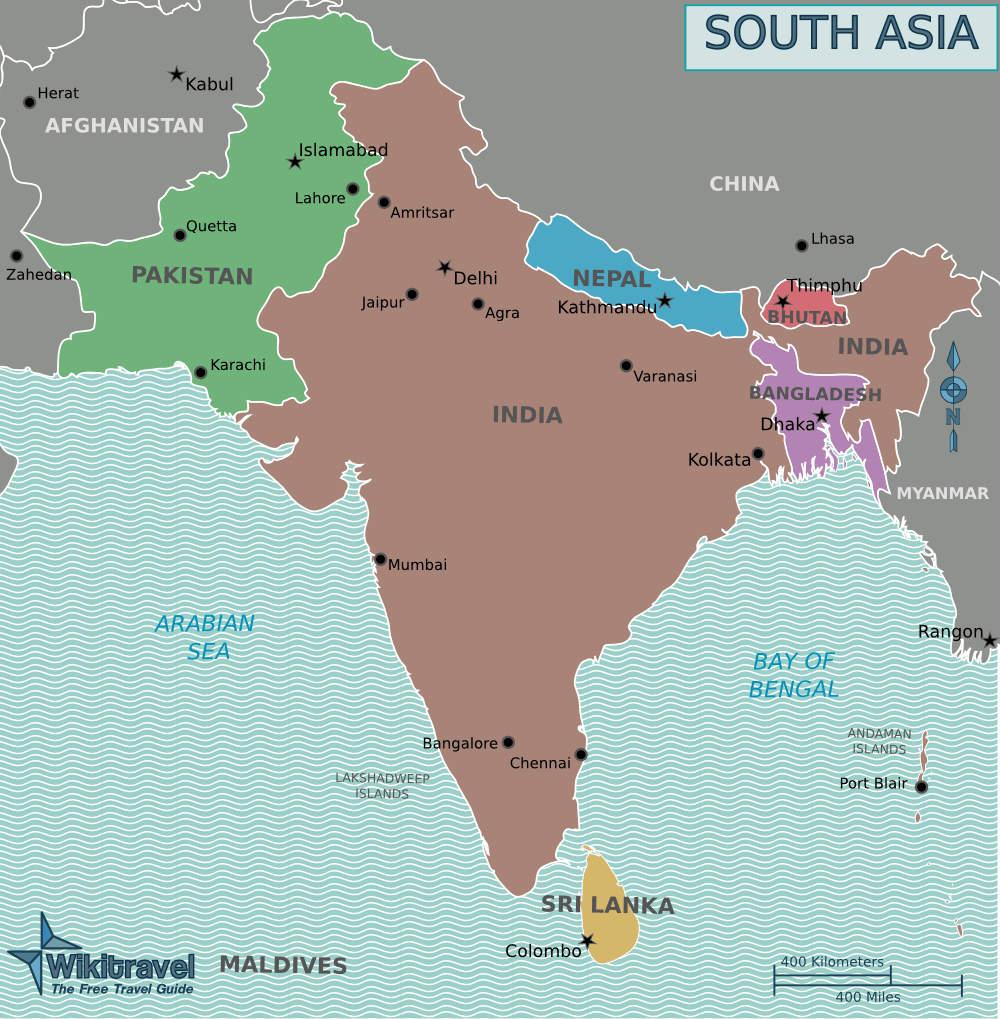 Map Of South Asia With Capitals 43