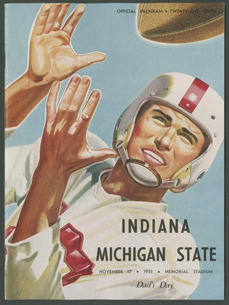Cover of IU vs Michigan State football program, Nov. 17, 1951
