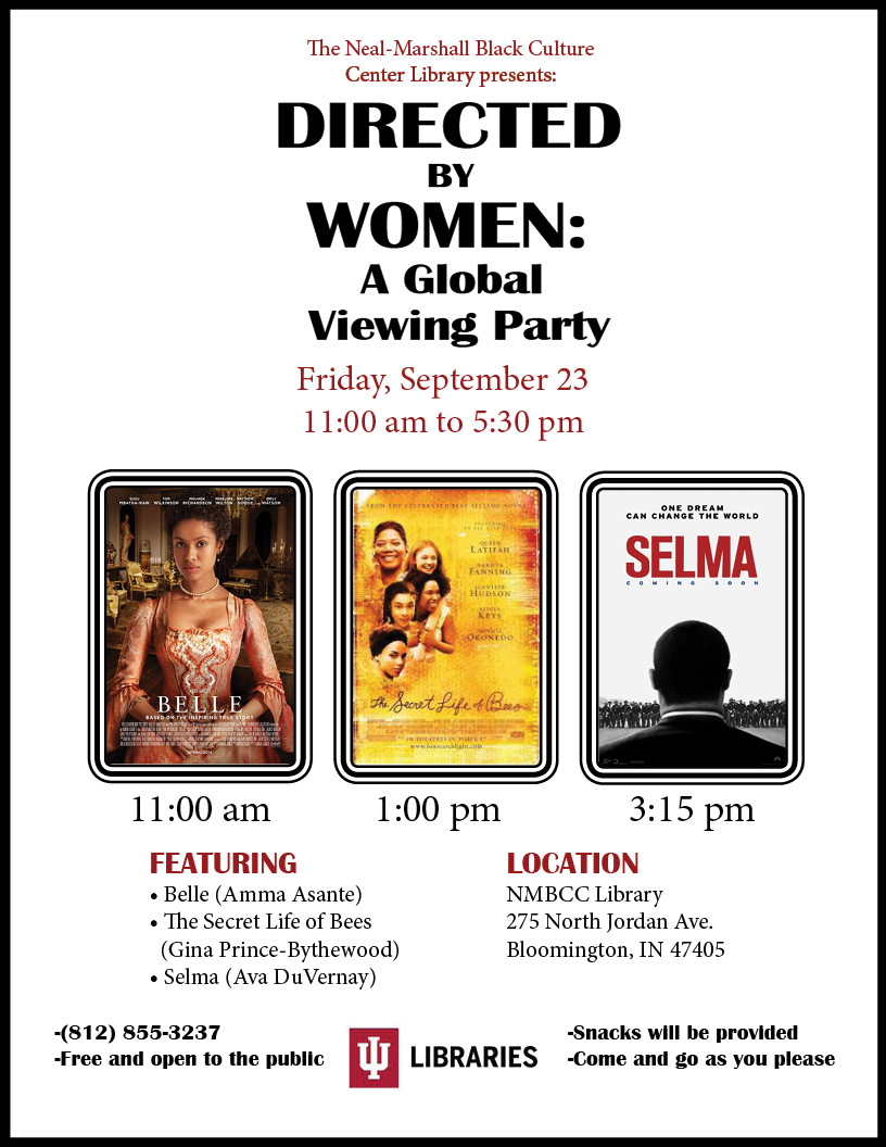 Directed by Women event flyer