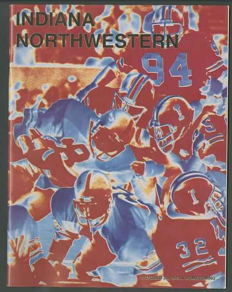 Cover of IU vs Northwestern football program, Oct. 20, 1979