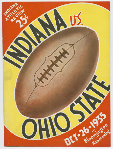 Cover of IU vs Ohio State football program, October 26, 1935