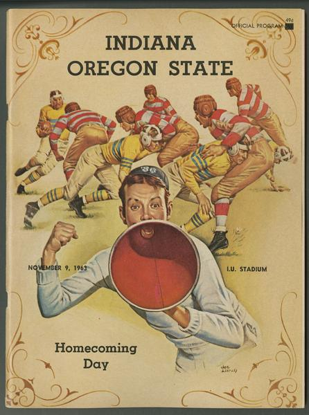 Cover of IU vs Oregon State football program, Nov. 9, 1963
