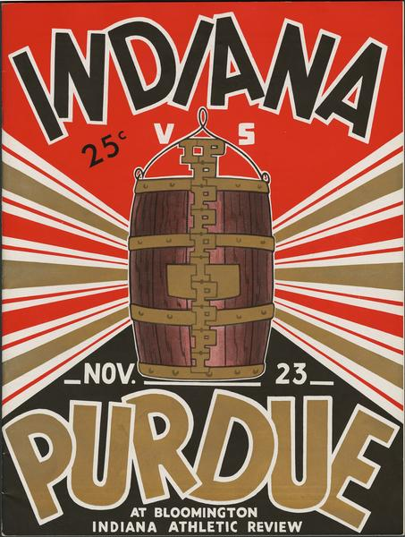 Cover of IU vs Purdue football program, November 23, 1935