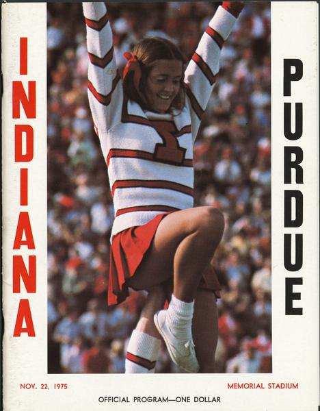 Cover of IU vs Purdue football program, Nov. 22, 1975