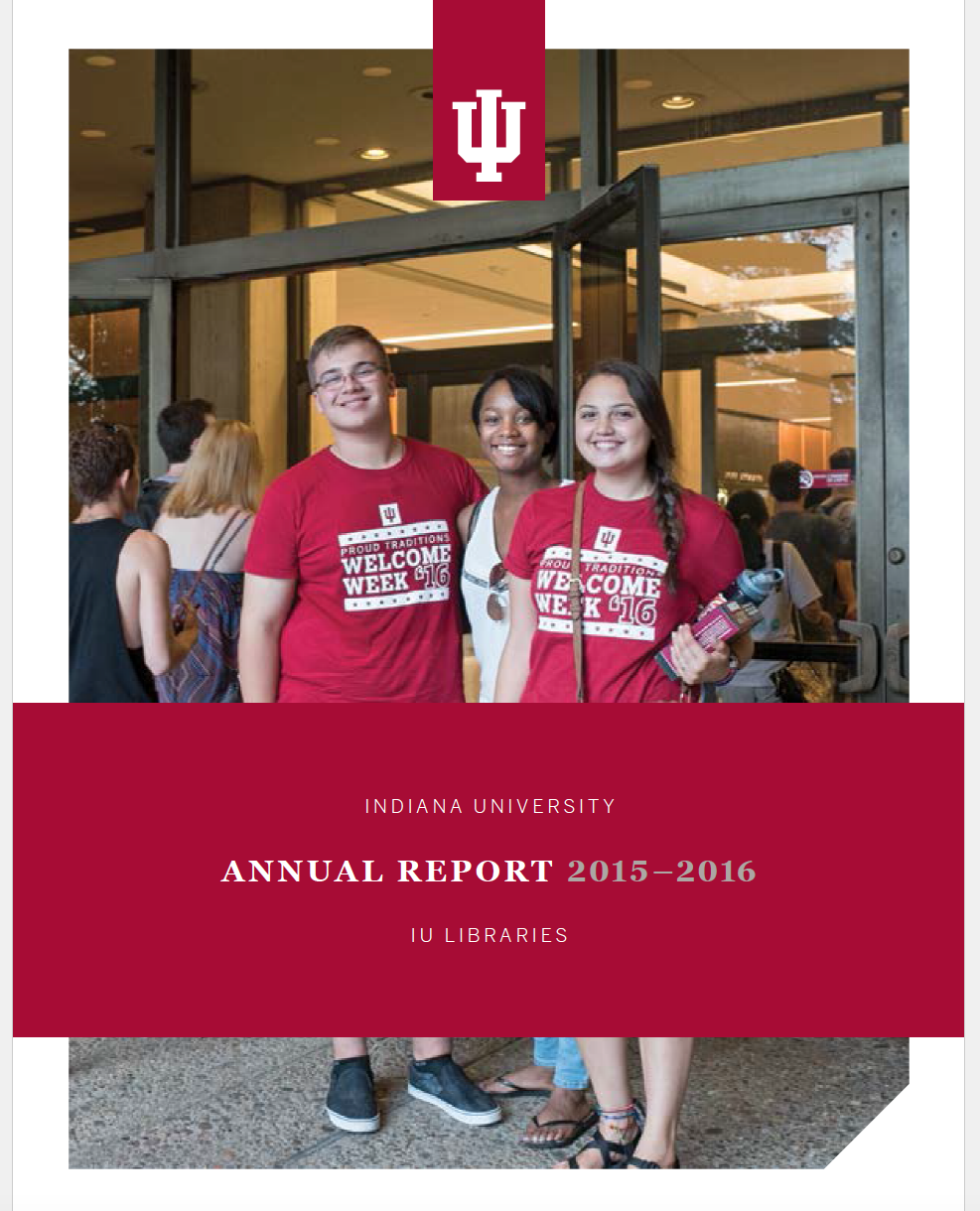 Image of IU Libraries Annual Report cover