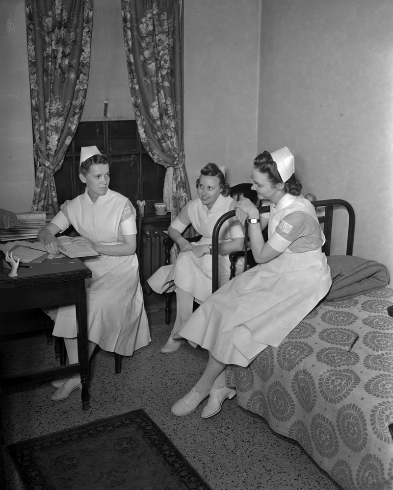 Nurses at Ball Residence, January 1942