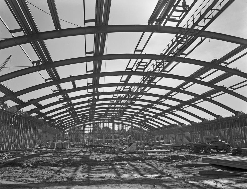 Photograph of Fieldhouse construction, September 4, 1959