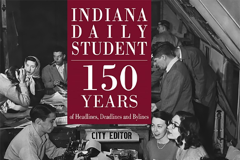 Historical image of IDS press room. Indiana Daily Student: 150 Years of Headlines, Deadlines and Bylines
