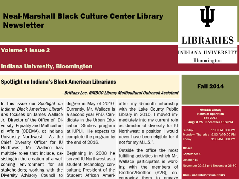 NMBCC Library Newsletter
