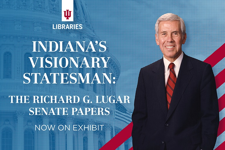 Indiana's Visionary Statesman: The Richard G. Lugar Senate Papers, now on exhibit. Photo of Richard Lugar.