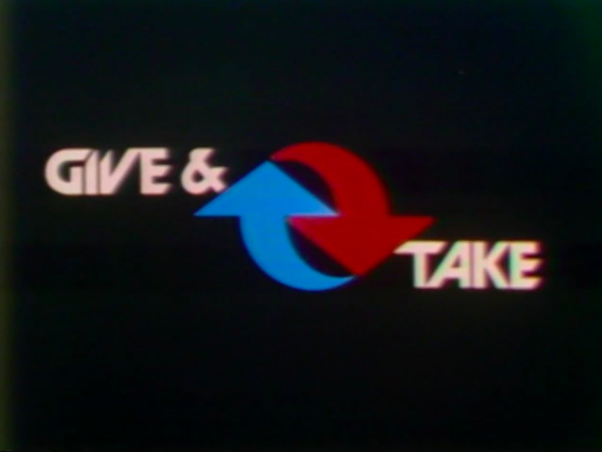 title card for Give and Take showing blue and red arrows that imply circle movement or equal trade