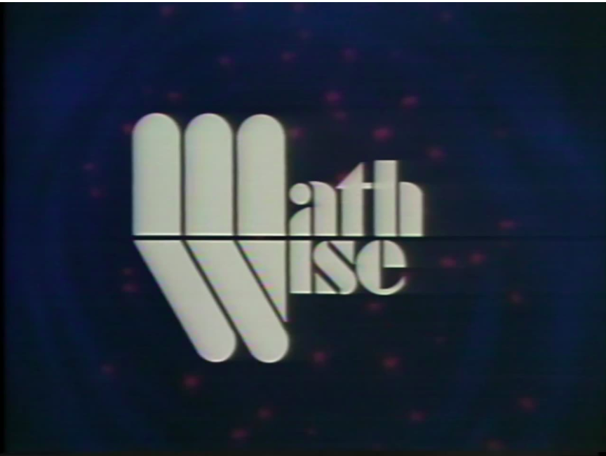 Blue background with faint red dots title screen for Math Wise