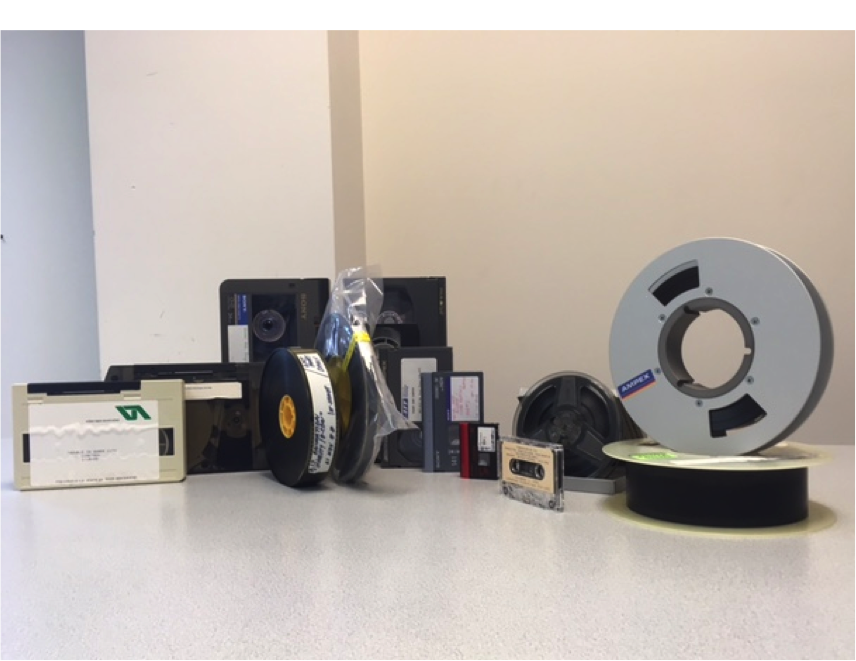 various video formats like tape and film