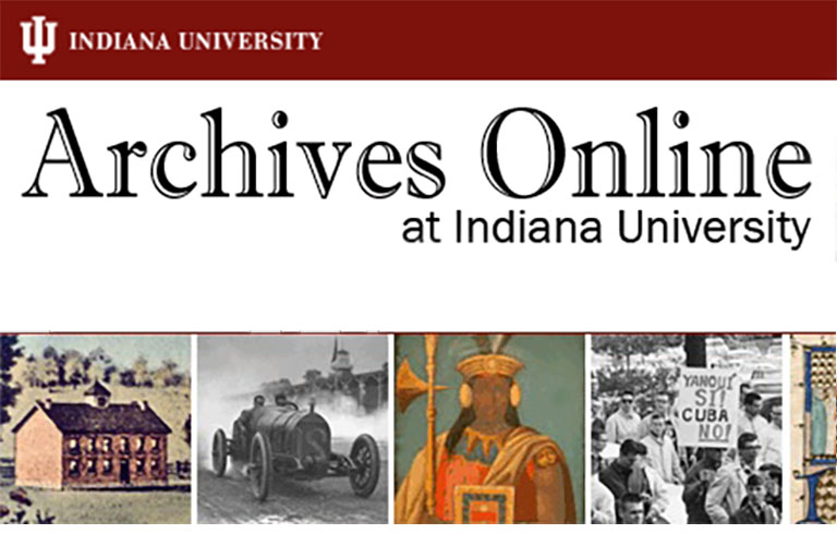Archives Online at Indiana University