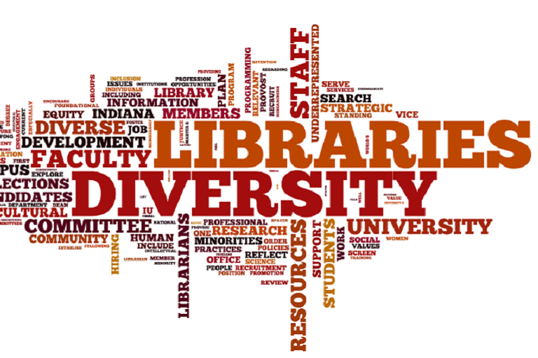 word cloud containing words related to diversity