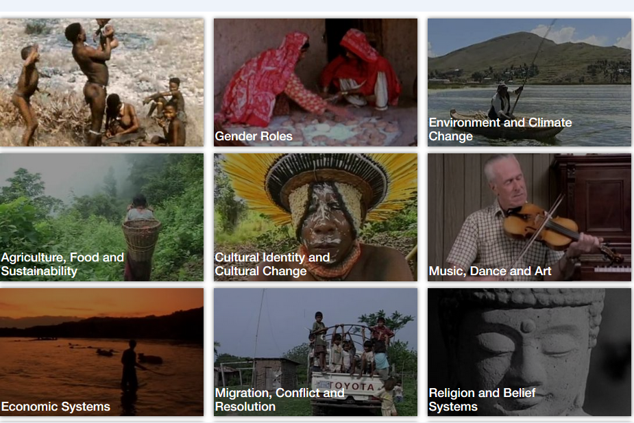 Stills of ethnographic films