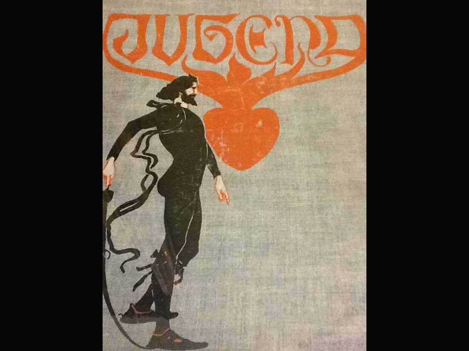 "Cover design by Fritz Erler for the March 1898 issue of the periodical ""Jugend"" (Munich: Hirth)."