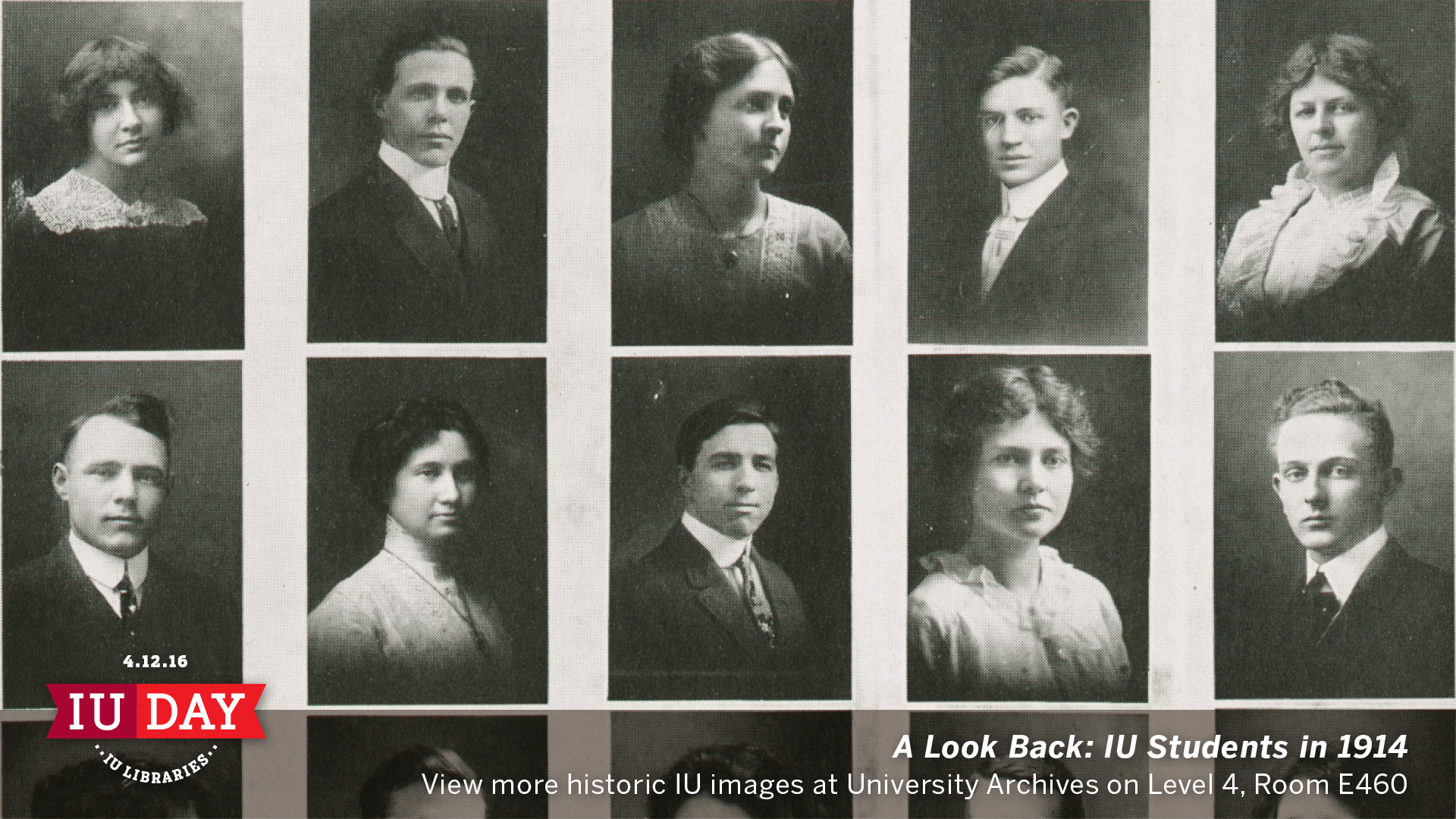 A Look Back: IU Students in 1914.