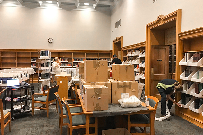 Lilly Library move-out January 2020