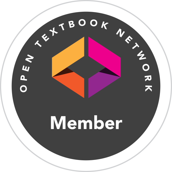 A circle graphic that reads Open Textbook Network Member