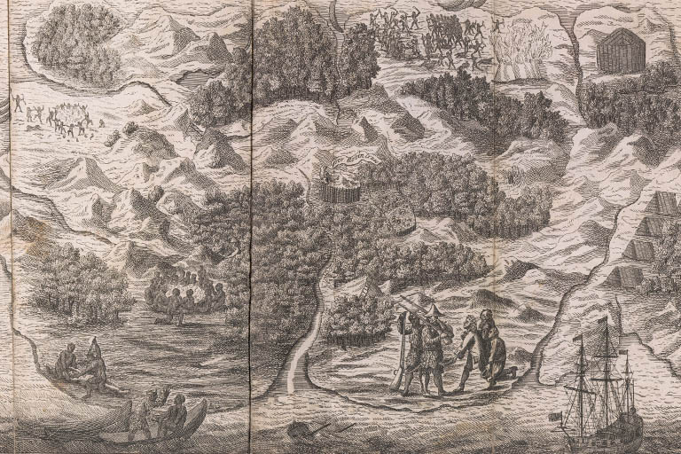 Image of travelers from Robinson Crusoe