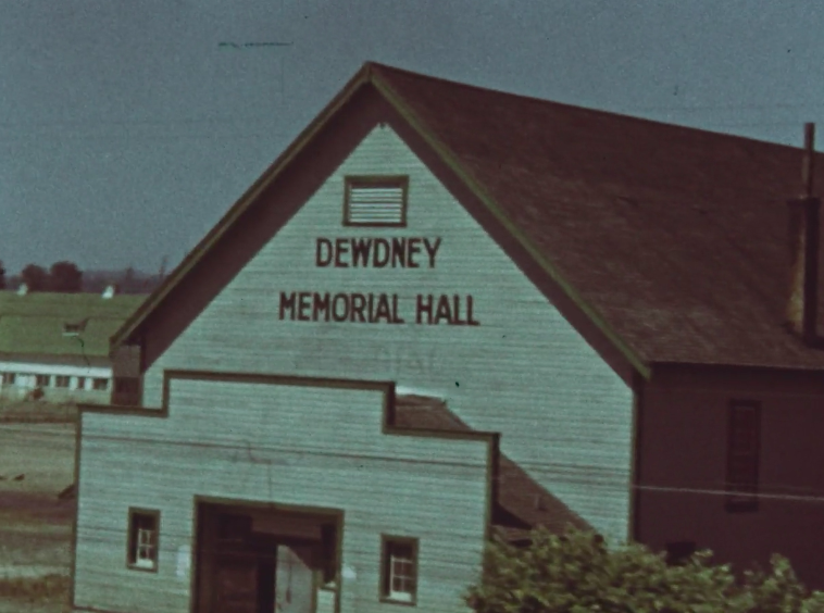 Still from Eileen Brennan collection showing a building