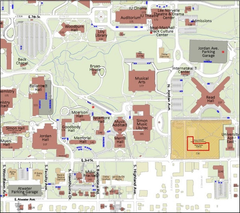 Map showing disabled parking areas near Morrison Hall