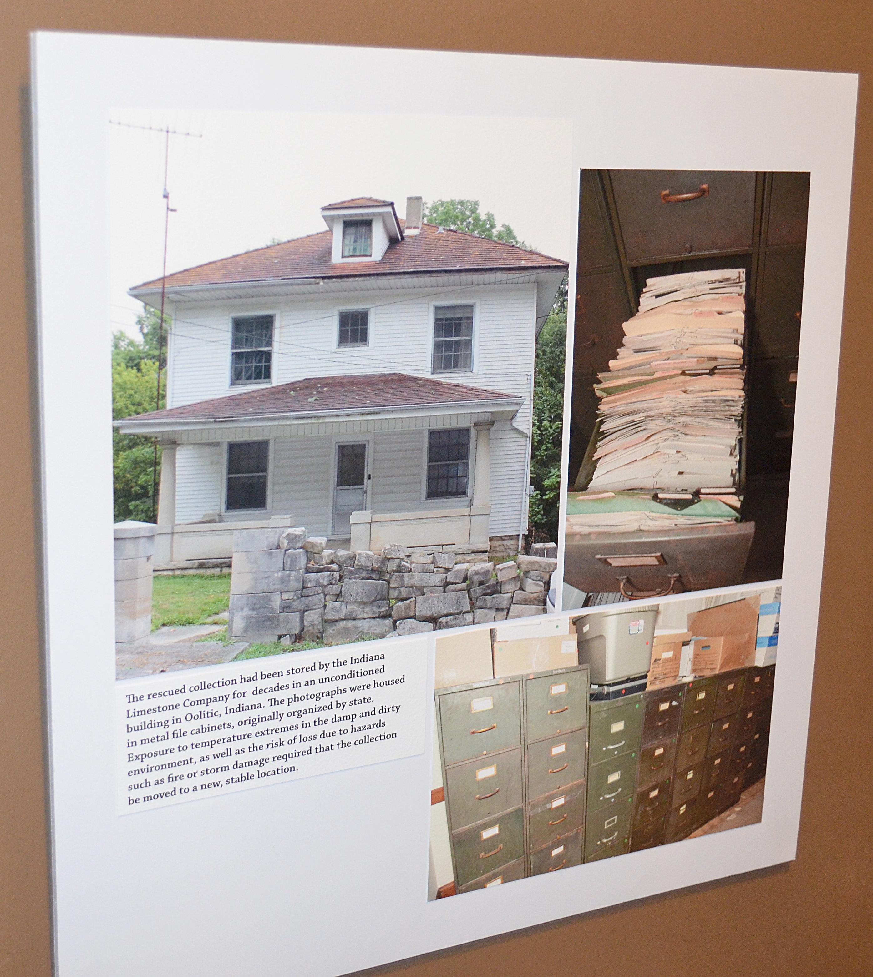 Photo showing storage of original photo find