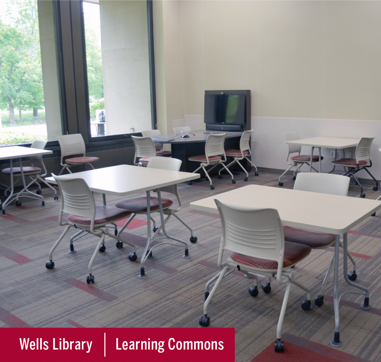 Image of the Writing Tutorial Room at Wells Library