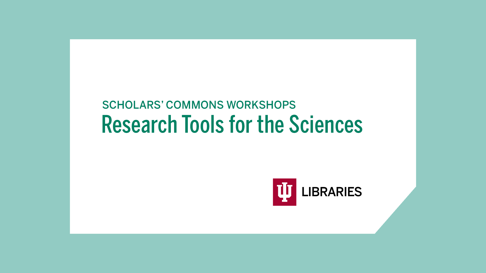 Research Tools for the Sciences logo