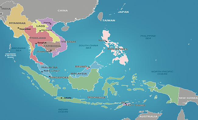 Southeast Asia Map | Indiana University Libraries