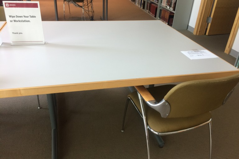 tabletop seat with chair neal marshall black culture center library