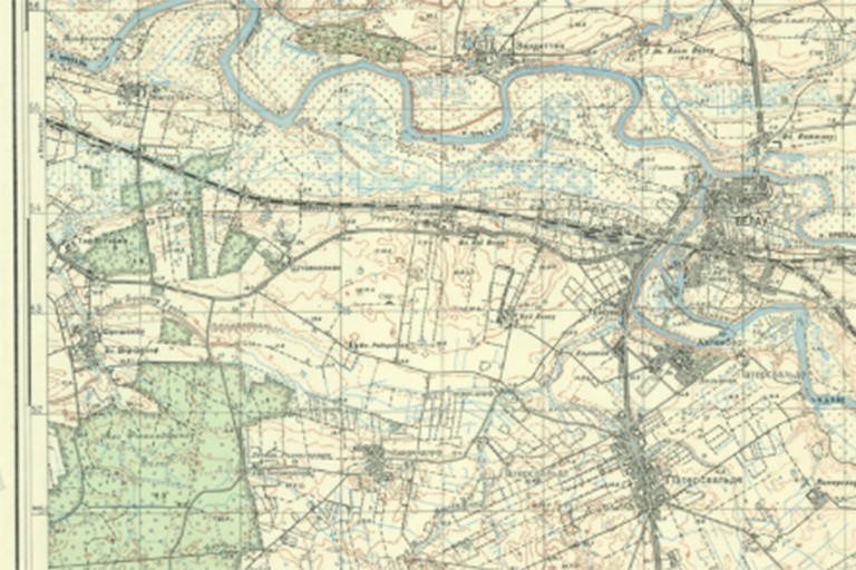Scanned map from Russian military