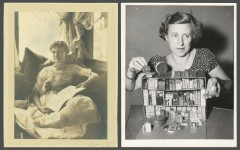 Book Collectors Elisabeth Ball and Ruth Adomeit