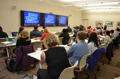 "Attentive participants in last semester's ""Supercharge Your Dissertation"" workshop"