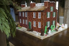 A gingerbread replica of the Wylie House