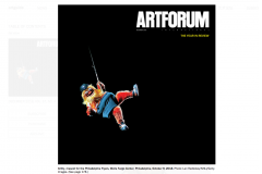 Image of the cover of the December issue of Artforum.