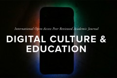 A header graphic is a backlit mobile device with the words Digital Culture and Education over the top of it.