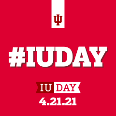 A graphic with the text: #IUDAY
