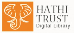 The HathiTrust logo is orange and features and elephant