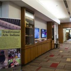 the scholars' commons exhibit hallway